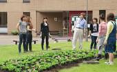 キャンパス内での花壇管理